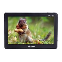 monitor para cámara dslr al por mayor-Freeshipping HD Clip-on Camera Monitor Monitor LCD portátil de 5