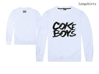 Wholesale Printed T Shirts For Boys - COKE BOYS long sleeve t-shirt latest styles new arrival fashion casual cotton t shirts for man boys hip hop long tees sale free shipping