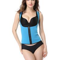 Wholesale S Advanced - Wholesale-New Women Sport Corset Vest Advanced Chloride Butyl Rubber Waist Cincher Trainer Workout Suit Waist Training Shaper Body Ladies