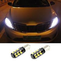 Wholesale Ba9s Led Error Free - 2pcs Lot Canbus ba9s led 27smd 2835 LED car Light ba9s led bulb t4w 2835smd W5W 194 SMD Error Free White Light Bulbs