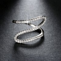 Wholesale Unique Wholesale Wedding Gifts - New Arrival Unique Infinite Ring with AAA Cubic Zirconia Hot Sale Ring Best Birthday Gift for Ladies OR77
