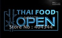 Wholesale Food Advertising - LK705-TM Thai Food OPEN Cafe Restaurant Neon Light Sign. Advertising. led panel, Free Shipping, Wholesale