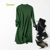 Wholesale Computers Seniors - 2017 autumn and winter new high-quality fashion knitted wool dress Europe and the United States senior woman sweater dress long-sleeved