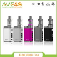 Wholesale Making Starter Kits - Original Eleaf iStick Pico TC 75W Starter Kit A Heaven-made Match of Tiniest Appearence Customized TCR and Upgrageable Firmware E-liquid