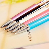 Neue Mutlti Funktion Metall Touch Pen Tinte, Farbe Diamond Crystal Touch Schreibkopf Stift für iPad iPhone 5S 4G iPod Kindle