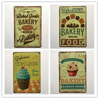 Wholesale Bakery Signs - Bakery food Cupcake Kitchen tin sign Vintage home Bar Pub Hotel Restaurant Coffee Shop home Decorative Metal Retro Metal Poster Tin Sign