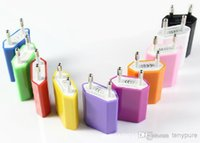 Wholesale Genuine Apple Iphone Wall Charger - -EU home charger EU Plug Genuine 5V 1A 1000mAh USB Power Travel Adapter AC Wall Charger for iPhone, Samsung, HTC 1000PCS