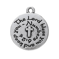 Fashion blessing quotes - Myshape cross religious quote disc charm the lord bless you and keep you for bracelets necklaces Making