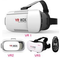 Wholesale free google cardboard online - Virtual Reality D VR Glasses Plastic Google Cardboard D VR BOX Adjustable D VR Glasses Headset for quot quot DHL Free OTH161