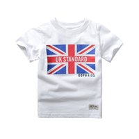 Wholesale Wholesale Girls Clothing Uk - 2017 Baby Boy 100% Cotton T Shirts Kids Boy Gray Summer Short Sleeve T-Shirts Kids Girls UK Style Tees Causal Top Little Boy Clothing CS08