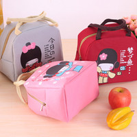 Wholesale 2017 New Japanese Girl Bento Lunch Boxes Large Portable Insulation Waterproof Box Thickening Cute Cartoon Foil Insulation Bags
