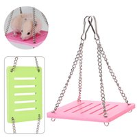 Wholesale Toy Hammocks Wholesale - Pet Wooden Hamster Mouse Swing Hammock Toys Mayitr Small Animal Cage Hanging Seesaw Funny Toys 3 cOlors