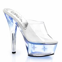 Wholesale Sandals Shallow - Summer Female PU Leather Fashion Shallow Mouth High-heeled Slippers Sexy Rhinestone Thin Heel Girls Sandals