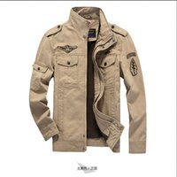 Men sport coat sizes for men - Fall The new brand military man army jacket plus size XL cost sports coat embroidered jacket for men aviation industry Militare