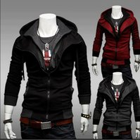 free assassins creed hoodie großhandel-Kostenloser Versand -NEW Assassins Creed Desmond Style Velour Hoodie