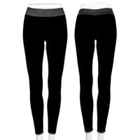 Atacado-Moda Womens Stretch Fitness Cropped Calças Candy Cor Elastic Jogging Sports Mulheres Leggings Running Gym Clothes