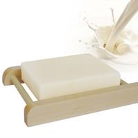 Wholesale Wholesale Goats Milk - 1Pcs High Quality Natural Handmade Goat Milk Soap Milk Bleach Soap Essential Handmade soap