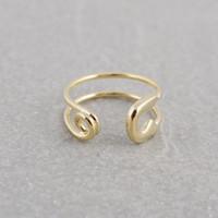 pasadores de seguridad de época al por mayor-2016 Hot Fashion Vintage Handmade Min 1pc-Gold, plata, oro rosa Gran anillo con pasador de seguridad - anillos ajustables EY-R016