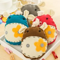 Wholesale Donkey Key Chain - New Cute Special offer keychains creative cartoon keychain manual cloth art Little donkey smoked pull key chain key package B0693
