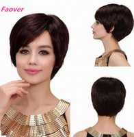 Wholesale hot sell b Natural Color Brazilian Virgin Hair Machine Made Short Bob Wig Density Straight None Lace Wig