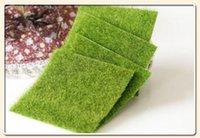 ingrosso gnomi da giardino-erba artificiale prato 15 * 15 cm fata giardino in miniatura gnome moss terrario decor mestieri della resina bonsai home decor per
