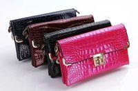 Wholesale Diamond Case For Blackberry - Hot selling Diamond Crocodile Leather Phone bags Women Shoulder Bags Handbags 4 Colors Big Capacity Women Tote Messenger Bags