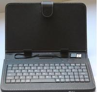 Wholesale Ipad Usb Case - 7 inch Tablet PC Micro USB Leather Keyboard Case 7inch Micro USB   Standard USB keyboard leather case
