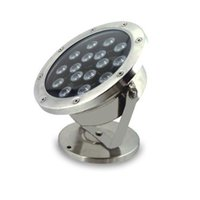 2PCS 18W IP68 LED luzes subaquáticas DC24V Fishing Docks Lights RGB Led Led Led Lamp Lightings