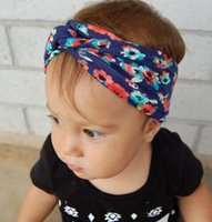 Wholesale Elastic Hair Accesories - Kids Hair Accessories Girls Bohemia Hair Elastic Flower Printed Baby Accesories For Hair Headband Enfeites De Cabelo Infantil