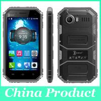 Wholesale Phone Smart Dustproof - W6 IP68 Waterproof Quad Core 4.5inch Smart Phone Android MTK6735 Dual SIM 1G RAM 8G ROM Dustproof Shockproof Unlocked Phones Wholsale Cheap