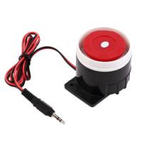 Wholesale Home Security Indoor Siren - Ear Piercing Indoor Siren Wired Mini Hoorn Sirene Home Security Sound Alarmsysteem 120dB DC 12 V Nieuwe