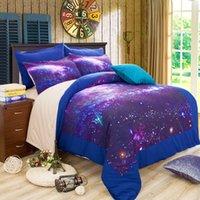 3d bedding set großhandel-Heißer Verkauf 3D Galaxy Bettwäsche-Sets Königin / König Größe Universum Weltraum Themen Bettdecke 4pcs Bettwäsche Bettwäsche Bettbezug Set