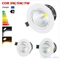 Wholesale cob led spot 3w - LED COB Ceiling Light Lamp 3W 5W 7W AC 110V 220V LED Spot Light For Home And Commerce Lighting down light