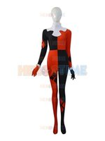 Wholesale Popular Girl Costumes - 2015 Super Villain Harley Quinn Costumes Halloween Costumes For Women Female Girls Cosplay Zentai Suit The Most Popular Free Shipping