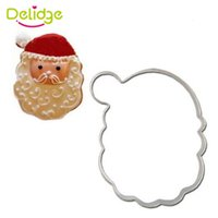 Wholesale Christmas Stainless Steel Mold - 1 pc Merry Christmas Series Cookie Mold Stainless Steel Santa Claus Bell Snowman Cookie Cutter Cake Fondant Decoration Mold