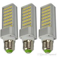 Wholesale G24 Led 22w - DHL E27 E14 G24 G23 SMD5050 LED corn bulb Horizontal Plug Led light lamp 10W 14W 18W 22W 24W 26W 180degree 85-265V 20