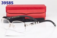 Wholesale Eyewear Bamboo - Semi-rim Glasses Wooden Carved Eyeglasses Gold Optical Glasses Women Wood Bamboo Carving Eyewear Frames