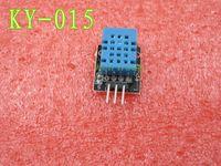Wholesale Dht11 Digital Temperature - Wholesale-Smart 3pin KEYES KY-015 DHT-11 DHT11 Digital Temperature And Relative Humidity Sensor Module + PCB for Arduino DIY Starter Kit