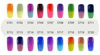 bukalemun sıcaklığı çivisi toptan satış-Elite99 7 ml Sıcaklık Değişimi Bukalemun Değişen Renk kapalı Islatın UV Tırnak Jel Lehçe UV Jel 8 Gelen 54 Renk Seçin