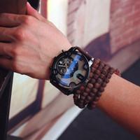 Wholesale Tungsten Watch Sale - 2016 New Hot Sale Sport Fashion Watch Blue Glass Auto Date Army Belt Retro Student Watch Quartz Watch Super Large Dial Watch Military
