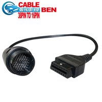 conector pin obd1 al por mayor-Al por mayor-Bzen 38 pin a 16 Pin Cable adaptador bens obd1 obd2 cable del conector envío gratis
