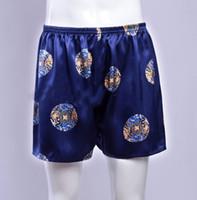 Wholesale Rich Prints - Wholesale-1Pc Mens Print 100% Silk Sport Athletic Gym Jogging Football Boxer Short Trunks Size S-3XL Free shipping Rich colors
