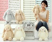 Wholesale Toy Baby Games - Creative Toy Doll Cute Bunny Rabbit 2018 Cute Stuffed Baby Girls Toys Cute 30CM 40CM 50CM Christmas Holiday Gifts Fast Shipping