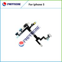 Interruptor de alta calidad ON OFF Bloqueo de volumen de alimentación Mute Button Flex Cable para iPhone 5 5G Flex Ribbon