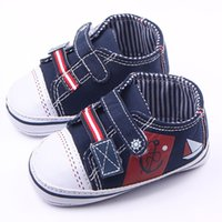 Wholesale Toddler Canvas Slippers - New Arrival Toddler Baby Walking Shoes Canvas Patchwork Upper Hard Sole 2 Hook&loop Casual Shoes For Boy Sport Slippers