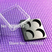 Wholesale Eyeshadow Box Empty - Wholesale- 4 Compartments Square Case Eyeshadow Packaging, Cosmetic Loose Powder Box, Empty Eye shadow Case, 50pc Lot