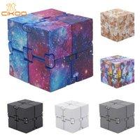 mejores juguetes para aliviar el estrés al por mayor-Novedad dedo infinito Cube Mini Fidget juguete Ansiedad Edc alivio de tensión cubo mágico Bloques niños de los niños juguetes divertidos mejor regalo de Navidad