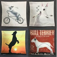Handmade case red bull - Order Bull terrier Cushion Covers Styles X40cm Angel Soft Material Pillow Case Bedroom Car Decorative Kids Gift