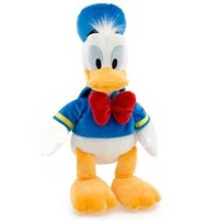 Wholesale Cute Donald Duck Plush - Wholesale-The Donald Duck Daisy Pluto Or Goofy Plush Toy About 30cm Cute Children Birthday Gift Or Christmas One Pcs Soft Free Shipping