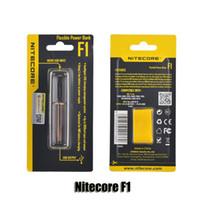 f1 ladegerät großhandel-100% Original NiteCore F1 Flexible Intellicharger E Zigaretten Ladegerät für 18650 18500 14500 26650 Li-on IMR Batterien